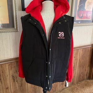 Vintage Authentic NASCAR jacket & zip out vest Lg